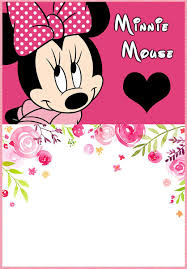 The Largest Collection Of Free Minnie Mouse Invitation Templates
