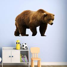 Millwood Pines Swearengin Grizzly Bear Vinyl Wall Decal Wayfair