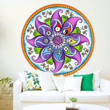 Shop Full Color India Mandala Yoga Ornament Buddha Full Color Wall Decal Sticker Sticker Decal Size 22x22 Overstock 14936273