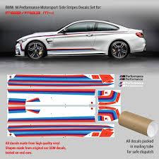 Bmw M Performance M4 F80 F82 F83 Motorsport Side Stripes