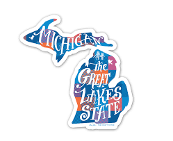 Michigan Vinyl Decal By The Mighty Mitten