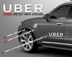 Uber Decal Sticker Set Of 4