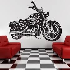 Wall Decals Harley Davidson Motorcycle Wall Stickers