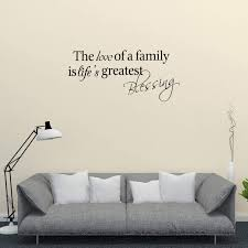 Amazon Com Empresal The Love Of A Family Is Life S Greatest Blessing Wall Decal Home Sticker Decor Lettering Sign Art Arts Crafts Sewing