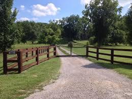 Wood Split Rail Fence W Arched Aluminum Double Driveway Gate Nashville Fence And Gate