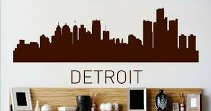 Design With Vinyl Detroit Michigan City Wall Decal Wayfair