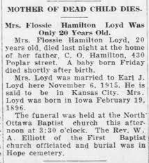 Death of Flossie Hamilton Lloyd - Newspapers.com