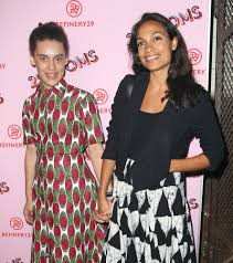 Rosario Dawson and Daughter Hold Hands ...