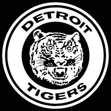 Detroit Tigers Retro Logo Car Decal Vinyl Sticker White