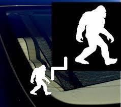 Bigfoot Sasquatch Yeti Car Window Vinyl Decal Sticker 5 5 Tall White For Sale Online