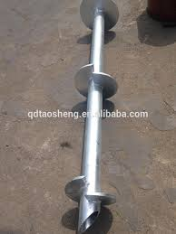 China Galvanized Fence Post Earth Ground Screw Concrete Pole Anchor China Helical Screw Piles And Earth Ground Screw Price