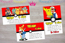 Kit Impreso Pokemon Pikachu Invitac Cartel Banderin Stickers