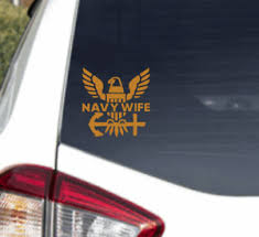 Us Navy Wife United States Military Usn Sailor Decal Car Truck Window Sticker Ebay