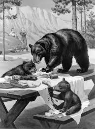 Black Bear And Cubs Wall Mural Contemporary Wall Decals By Magic Murals Llc