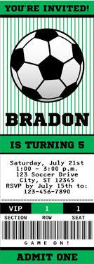 Soccer Ticket Invitation Soccer Party Invitation Soccer Birthday
