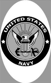4 X 6 U S Navy Decal Static Cling Navy Emblem Static Cling Etched Glass Windows