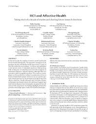 pdf hci and affective health taking