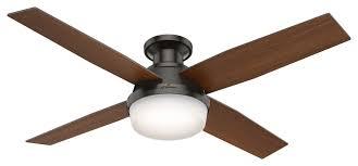 52 indoor flush mount ceiling fan
