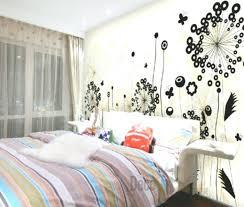 bedrooms flower wall bedroom ideas