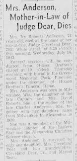 Ida Roberts Anderson Obituary July 17, 1943 - Newspapers.com