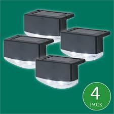Arlec Led Solar Fence Light 4 Pack Bunnings Warehouse