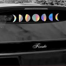 Moon Phases Car Decal Laptop Decal Vinyl Decal Moon Phases Moon Decal Laptop Sticker Window Sticker Car Accessories Clings Stickers Labels Tags Paper Party Supplies