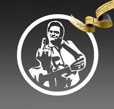 4 Inch Johnny Cash Fu Vinyl Decal Sticker Car Finger Guitar Misfits Nin Cash It 3 62 Picclick