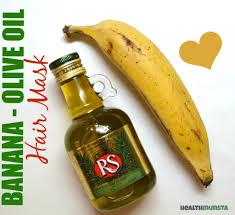 banana olive oil hair mask for damaged