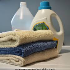 musty smell out of clothes and towels