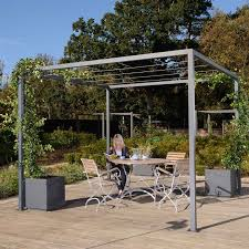 Harrod Modern Pergola With Wire Grid Roof Harrod Horticultural