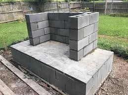 concrete slab diy outdoor fireplace