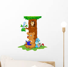 Cute Animals Reading Book Wall Decal Sticker By Wallmonkeys Peel And Stick Graphic 12 In H X 10 In W Wm237732 Walmart Com Walmart Com