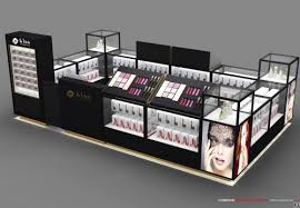 ping mall cosmetic kiosk with gl