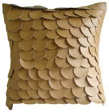 mermaid design faux leather pillowcase