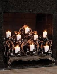 fireplace candle displays to make your