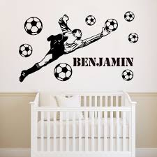 Muurstickers Arsenal Fc Wall Sticker Personalised Name Ball Design Wall Decal Huis Samsungupdated Com