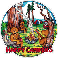 Grateful Dead Happy Campers Window Sticker Decal Peace Resource Project
