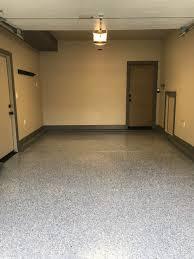 acid etch a garage floor before