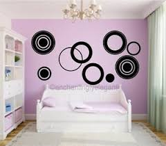 Large Circles Vinyl Decal Wall Stickers Teen Girl Boy Room Modern Wall Art Ebay