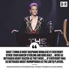 Megan Rapinoe used her speech ...