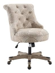 Linon Dallas Mid Back Chair Beige FernGray - Office Depot