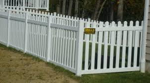 Res 2 Pvc Kroy Picket White Dog Ear Mills Fence Co