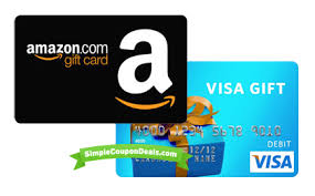 how to redeem visa gift card on amazon