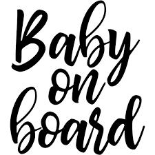 Script Baby On Board Window Decal 904 Custom