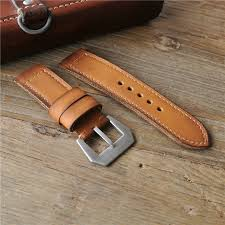 handmade genuin leather cuff watch band