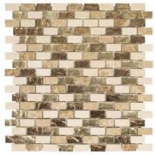 brown mosaic tile tile the home depot