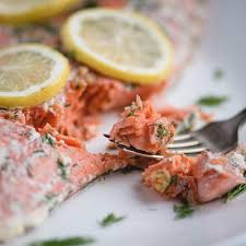 Lemon Dill Salmon - Feasting not Fasting