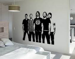 Foo Fighters Wall Art Sticker Rock Band Decal Music Vinyl Mural Wa670 Foo Fighters Foo Fighters Dave Grohl Foo Fighters Dave