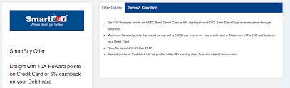 hdfc bank 10x points for travel