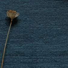 Ingrid Teal, Blue plain Linen mix, Pre-washed fabric